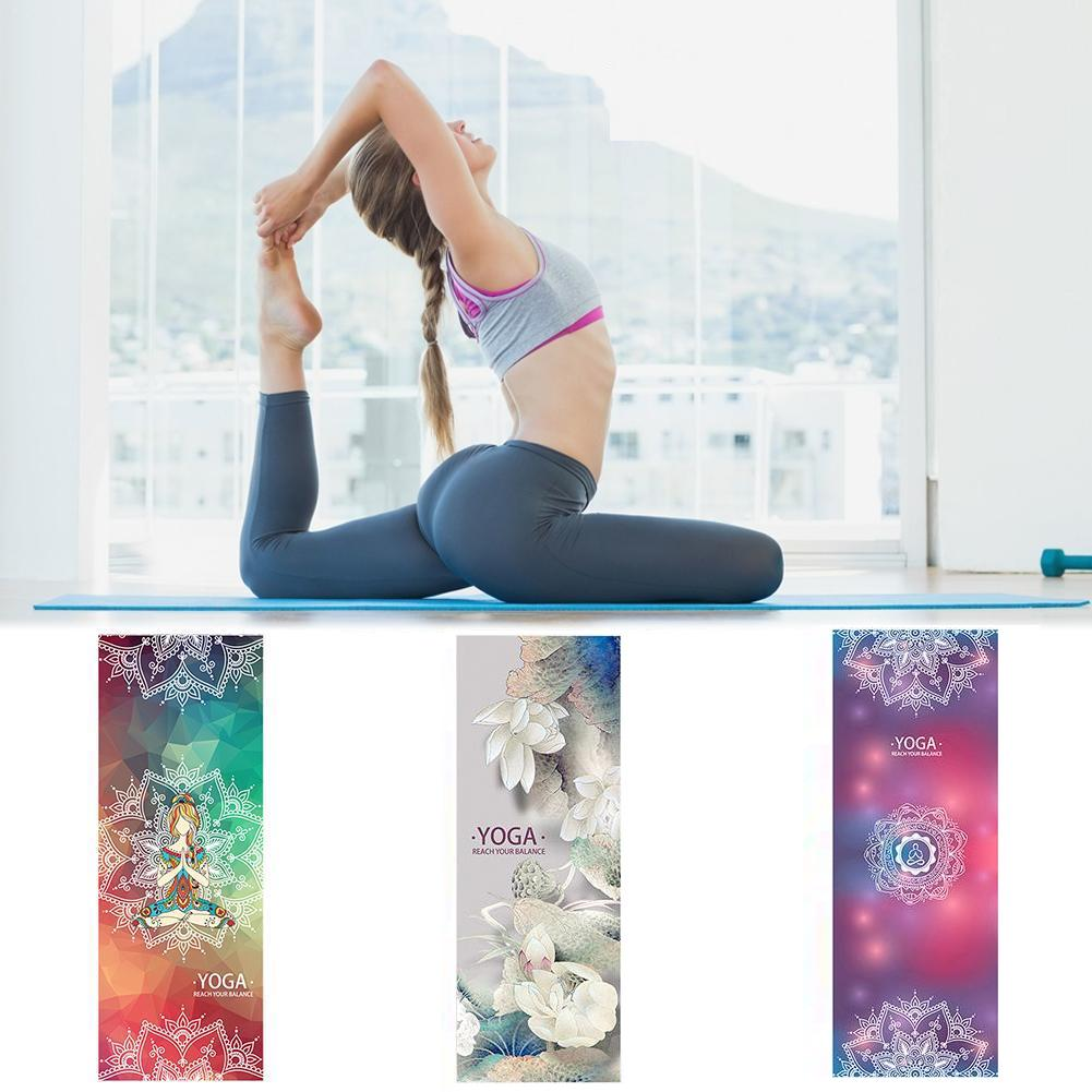 Tapis de yoga et méditation en microfibre antidérapante