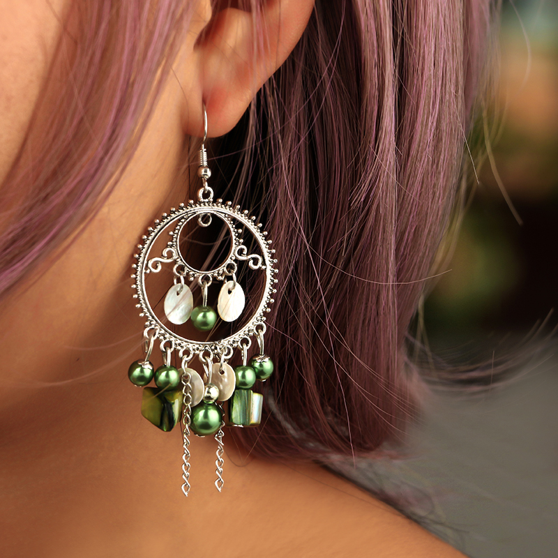 Boucles d\'Oreille Fashion Green