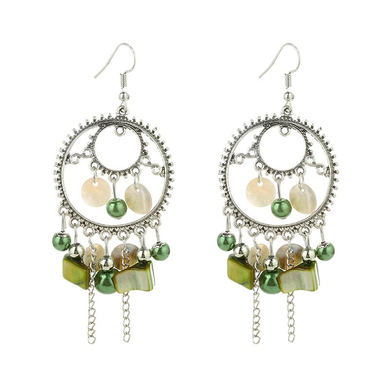 Boucles d'Oreille Fashion Green