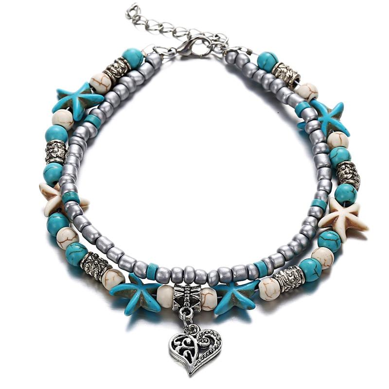 bracelet de cheville, chainette, bijou pied