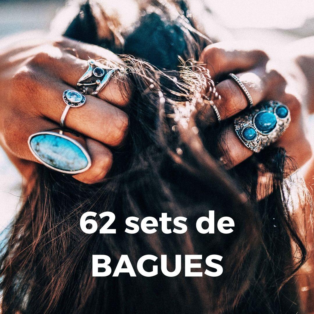 60 sets de BAGUES