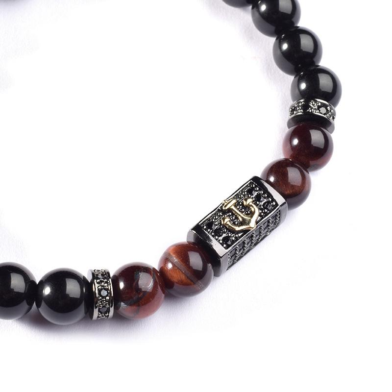 bracelet de perles pour homme, pierres oeil de tigre, cadeau homme