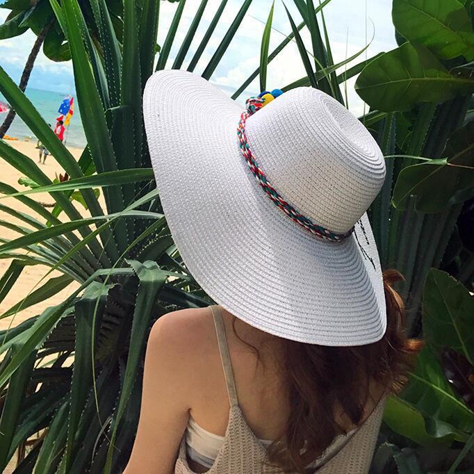 chapeau de paille pour la plage, chapeau en osier tressé