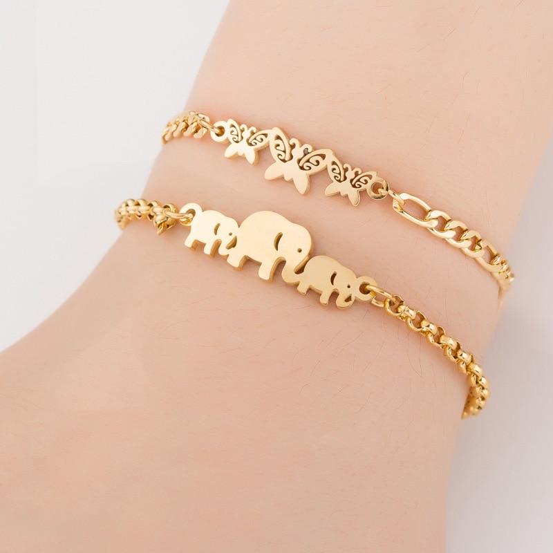 Bracelet d'Amour, Cadeau Femme, chainette en op plaqué