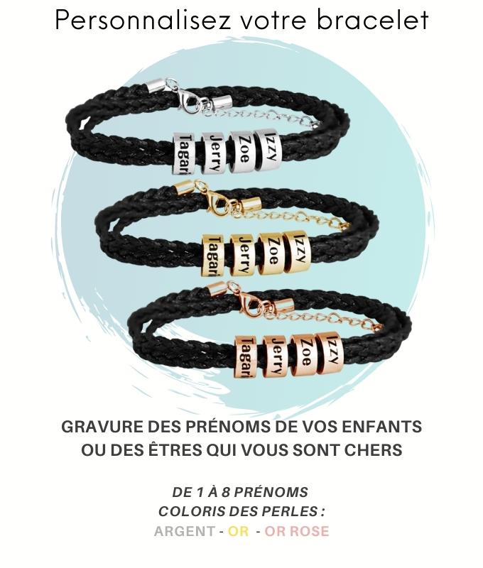 bracelets prénoms à personnaliser