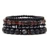 Ensemble de Bracelets Homme, Labradorite naturelle, hématite véritable, perles en pierre d'onyx noir polies, pierre de lave, bracelet homme énergisant, bijou homme énergie, bracelet for men, stone bracelets, style mode tendance homme