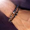 Bracelet tendance pour Homme perles en pierres TEMPERAMENT