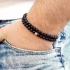 Bracelet Homme perles en pierres TEMPERAMENT