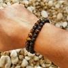 Bracelet cadeau Homme perles en pierres TEMPERAMENT oeil de tigre