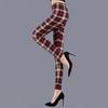 Legging à carreaux pour femme taille-haute