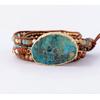 Bracelet 5 brins Unique en Pierres Naturelles Jaspe
