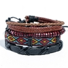 Bracelets Multi-Stack Homme Denim and Leather