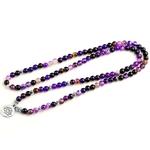 Bracelet-pour-femmes-lumineux-violet-ligne-perles-avec-Lotus-OM-bouddha-charme-Bracelet-de-Yoga-108