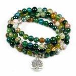 Bracelet MALA 108 perles vert