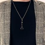 Collier de perles et Chainette HOMME