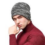 bonnet de laine polaire gris homme