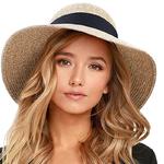 Chapeau de plage FEDORA à bord large