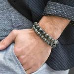 Bracelet cadeau Homme perles en pierres précieuses TEMPERAMENT