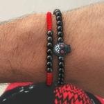 Bracelet cadeau Homme perles en pierres TEMPERAMENT crane