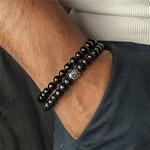 Bracelet cadeau Homme perles en pierres TEMPERAMENT