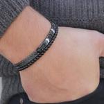 Bracelets Homme perles en pierres TEMPERAMENT