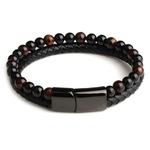 Cadeau Bracelet Homme MAGNETISME perles pierres oeil de tigre 8