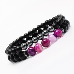 Bracelets de COUPLE en pierres semi-précieuses
