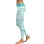 Legging Sport Gym Yoga Turquoise Mandala 2