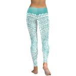 Legging Sport Gym Yoga Turquoise Mandala 1