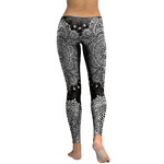 Legging Sport Gym Yoga Black'n'White Mandala 1