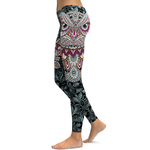 Legging Sport Gym Yoga Mandala Hibou 3
