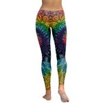 Legging Sport Gym Yoga Super Mandala Rainbow 1