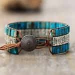 Bracelet manchette BOHO-CHIC PIERRE de JASPE