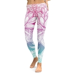 Legging Sport Gym Yoga Fleur de Lotus 1