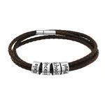 MYLONGINGCHARM-Bracelet-en-cuir-tress-personnalis-Bracelet-avec-nom-personnalis-pour-femmes-et-hommes-perles-en