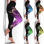 Leggings de fitness collants sport femme PAPILLONS