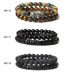 Bracelets de perles naturelles POUR LUI GoHappy (6)