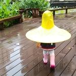 AsyPets-Enfants-Mignon-Canard-Imperm-able-UFO-Parapluie-Chapeau-Mains-Livraison-Pluie-ManImperméable Canard pour enfantteau-25