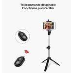 Bâton Selfie + Trépied + Télécommande Bluetooth 3
