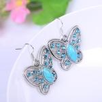 Boucles Doreille Papillon Turquoise