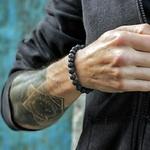 Bracelets H/F en Pierres naturelles de Lave