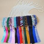 Colliers vintage Pompon à Perles cristal hippie, bohochic, bohème, necklace, tendance neo hippie, gohappy, bien-être, collier cool, cadeau femme