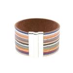 Bracelet Femme Cuir Stripes