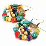Boucles d'oreille Bhoutan 1