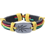 Bracelet cuir Reggae 4