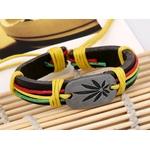 Bracelet cuir Reggae 3