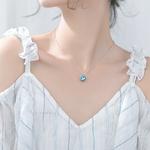 collier argent pendentif argent bleu turquoise