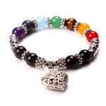 Bracelet pierres naturelles coeur chakras