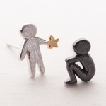 Boucles d'Oreille a Star ☆ for You⎜Argent Pur
