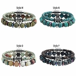 Bracelets Homme Pierres et Cuir Nobylis 4